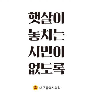 대구광역시의회 광고 카피
